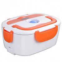 Электрический ланч-бокс с подогревом Electronic Lunchbox Оранжевый (nri-2238), фото 1