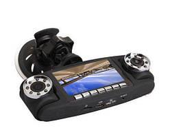 Авто регистратор Double 3 в 1 2 камеры+GPS