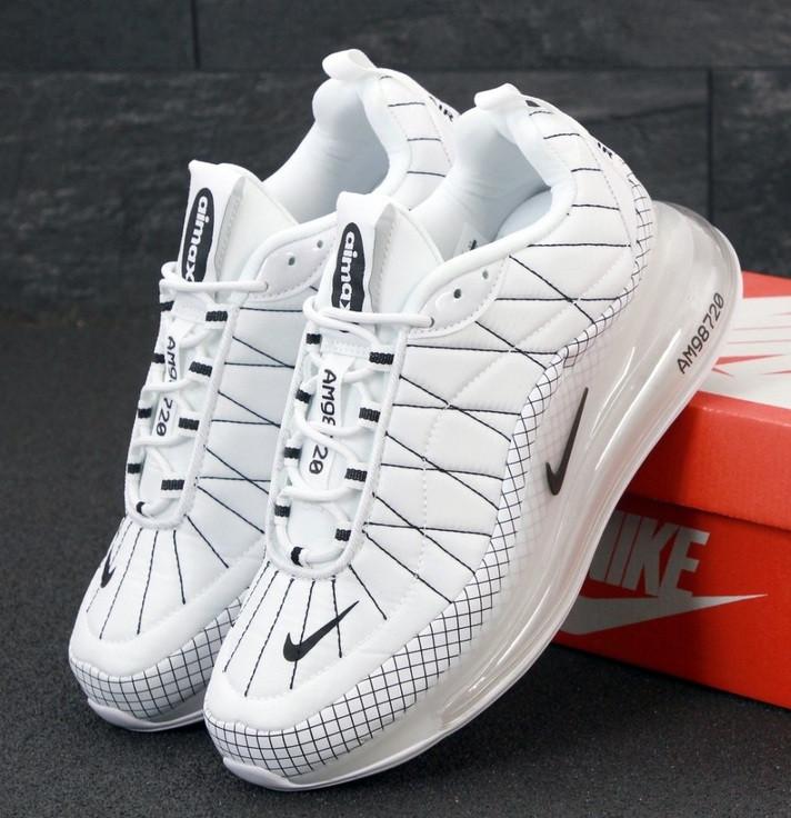 Теплые мужские кроссовки Nike Air Max 720-818 белые термо 41-45р. Живое фото (Реплика)