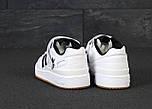Мужские кроссовки Adidas Forum белые с черным. Фото в живую. Реплика, фото 4