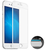 Защитное 5D cтекло Nano Flexible GLASS ITOP для Apple iPhone 6/6s Full Cover Белый, фото 1