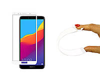 Защитное 5D cтекло Nano Flexible GLASS ITOP для Huawei Honor 7A 2018 Full Cover Белый, фото 1