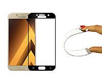 Защитное 5D cтекло Nano Flexible GLASS ITOP для Samsung Galaxy A5 2017 Full Cover Черный, фото 1