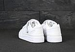 Мужские кроссовки Adidas Forum белые кожаные. Фото в живую. Реплика, фото 2