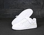 Мужские кроссовки Adidas Forum белые кожаные. Фото в живую. Реплика, фото 4