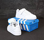Чоловічі кросівки Adidas Forum білі шкіряні. Фото в живу. Репліка, фото 5
