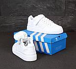 Мужские кроссовки Adidas Forum белые кожаные. Фото в живую. Реплика, фото 5