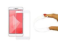 Защитное 5D cтекло Nano Flexible GLASS ITOP для Xiaomi Redmi Note 4X Full Cover Белый, фото 1