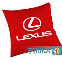 Подушка с логотипом Lexus