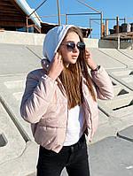 Женская модная короткая куртка для зимы на синтепоне