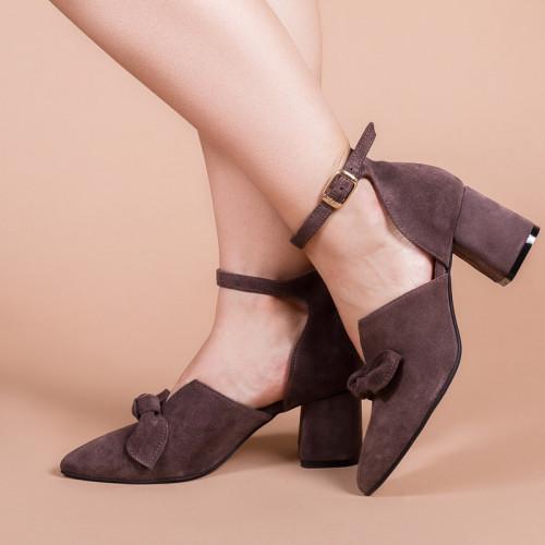 Туфлі жіночі Шоколад натуральна замша Розміри 36-41