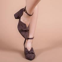 Туфлі жіночі Шоколад натуральна замша Розміри 36-41, фото 2
