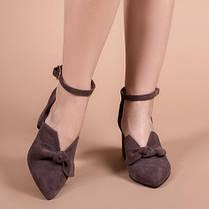 Туфлі жіночі Шоколад натуральна замша Розміри 36-41, фото 3