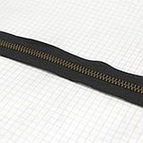 Молния металлическая тип 5 YKK чёрная зуб антик, фото 2