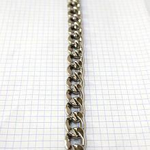 Цепь металлическая никель для сумок a6098