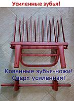 Чудо-лопата КОВАННАЯ ЗЕМЛЕКОП 5/6/7/8/9/10 (зубья-ножи) Усиленная!