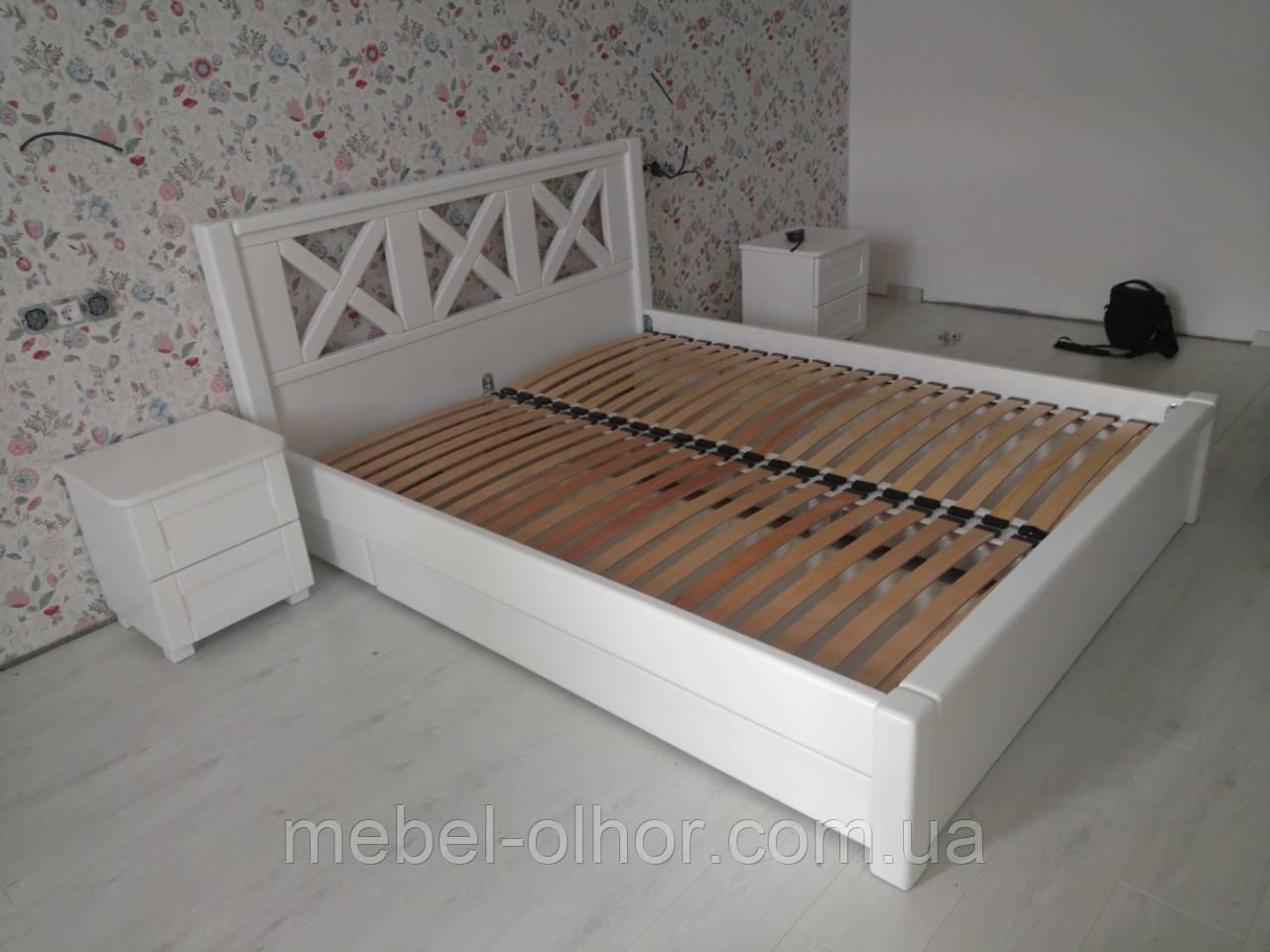 Кровать Кантри белая массив