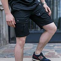 Шорты мужские карго черные бренд ТУР модель Брутто (Brutto) S, M, L, XL, XXL