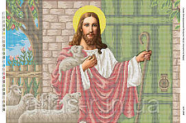 """А2 """"Исус стучится в дверь"""" схема для вышивки бисером иконы"""