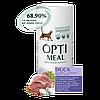 Корм Оптиміл Optimeal для дорослих котів з ефектом виведення шерсті з качкою 650 г + 650 г (1,3 кг)