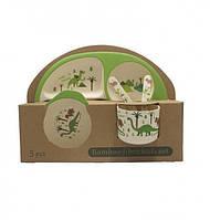 Набор детской бамбуковой эко-посуды Top Trends Дино (200726), фото 1