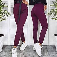 Штаны женские спортивные из двунитки с поясом в комплекте (К29557), фото 1
