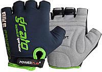 Велорукавички PowerPlay 5029 B S Чорно-зелені (5029B_S_Black-Green), фото 1