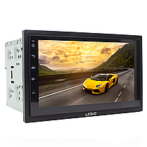 ➺Магнитола 7'' Lesko 7003А память 1/16GB 2 Din bluetooth MP3 GPS навигатор WiFi Андроид 8.1 + Рамка в подарок, фото 3