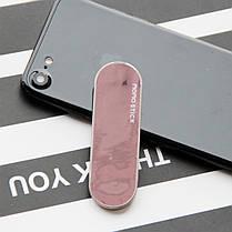 ☞Держатель для телефона Momostick iSeries (A-i-03) Pink многоразовая клейкая основа подставка для смартфона, фото 3