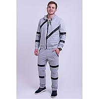 Мужской спортивный костюм серого цвета,размеры:48,50,52,54,56., фото 1