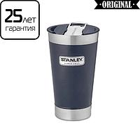 Термочашка Stanley Classic 0.47 л синя з відкривачкою для пляшок на кришці (термокружка, термочашку), фото 1