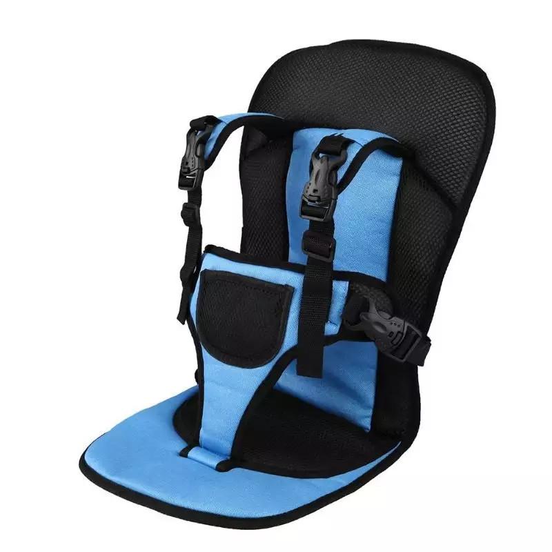 Бескаркасное автокресло / Детское авто-кресло от 1-х до 7 лет синего цвета Multi Function Car Cushion