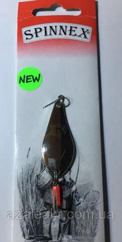 Блесна Spinnex Atom 4g silver smooth