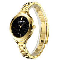 ☂Часы BAOSAILI BSL1049 Gold кварцевый механизм женские модные часы в золоте стильный аксессуар