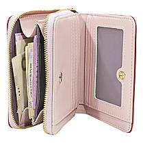 ✩Женский кошелек Baellerry DR022 Red модный с ремешком компактный для хранения денег и монет, фото 3