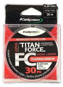 Флюорокарбон Kalipso Titan Force FC Leader ( 0,16 мм) 30м