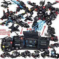 Полиция SWAT грузовик трансформер (32в1) конструктор Аналог Лего