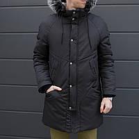 Зимняя куртка парка мужская черная водоотталкивающая Taranis от бренда ТУР