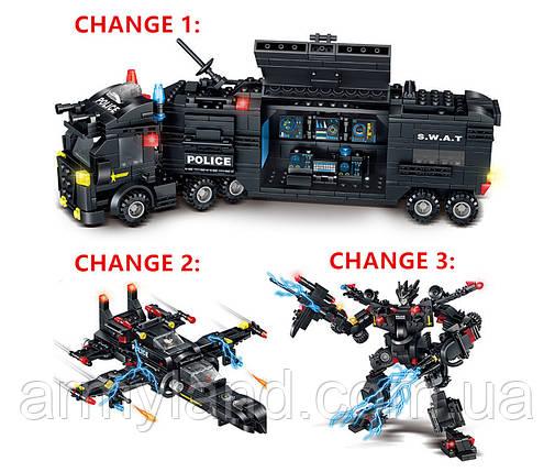 Полиция SWAT грузовик трансформер (32в1) конструктор Аналог Лего, фото 2