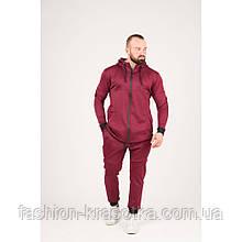 Мужской спортивный костюм бордового цвета,размеры:44,46,48,50,52.