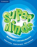 Рабочая тетрадь Super Minds 1 Workbook with Online Resources
