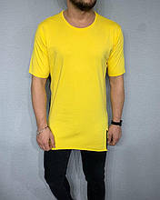 Мужская длинная футболка (желтая) - Турция