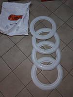 Флиппера на колеса, вайтволлы, вайтбенды, колорбенды, R16 белые широкие 8 см Турция, фото 1