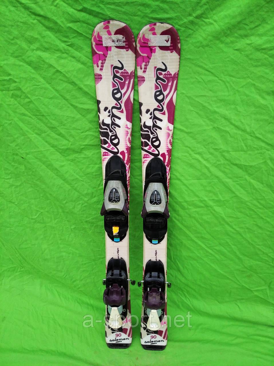 Гірські лижі бу Salomon 90 см для карвінгу