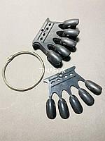 Палитра для гель-лаков корона на железном кольце, 50шт, черная