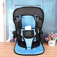 Бескаркасное автокресло / Детское авто-кресло Multi Function Car Cushion от 1-х до 7 лет синего цвета