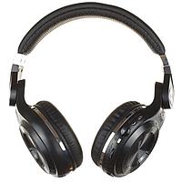 Bluetooth наушники Bluedio T2 Plus (поддержка FM-радио, черные)