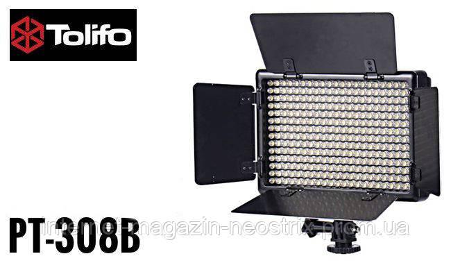 Cветодиодная LED панель Tolifo PT-308B 3200-5600K