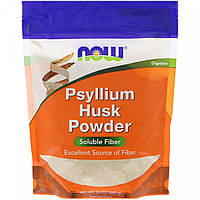 Now Foods, шелуха семян подорожника (680г), клетчатка Psyllium fiber