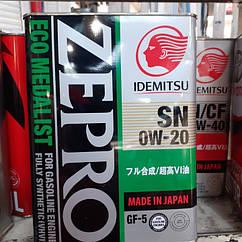 Синтетическое  Моторное масло 0 W20 IDEMITSU  ZEPRO